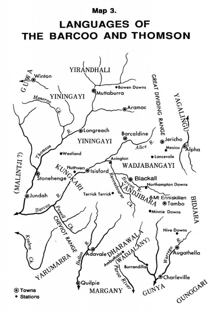 Languages of the Barcoo and Thomson