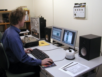 Paradisec's Audio Engineer, Frank Davey at work