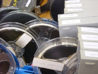 mould-affected reel-to-reel tapes await processing in Paradisec's Sydney lab